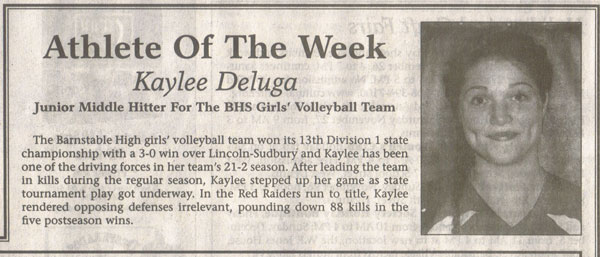 Kaylee Athlete of the Week