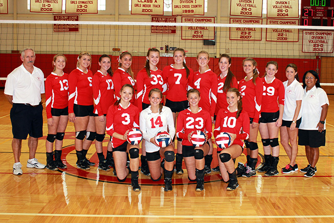 Barnstable High School Volleyball Team 2014