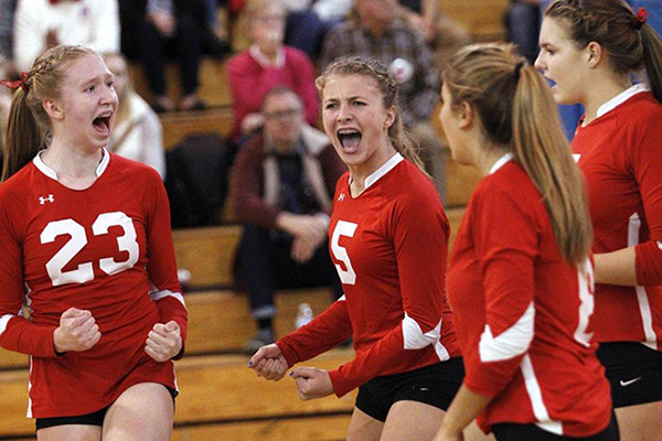 Barnstable Volleyball Pic Boston Globe