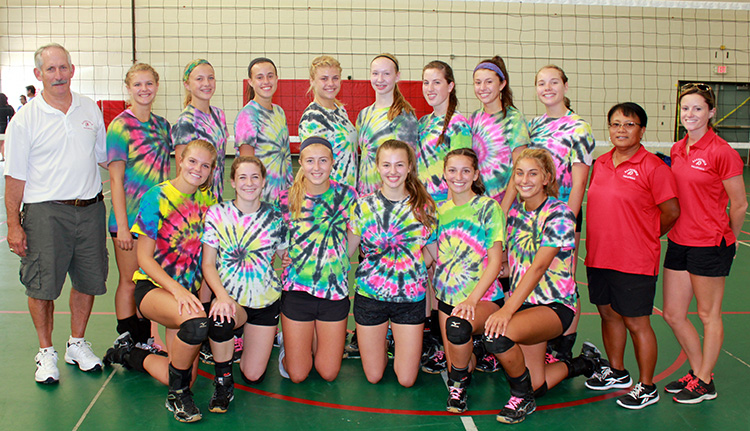 Barnstable Volleyball Team Play Day 2015