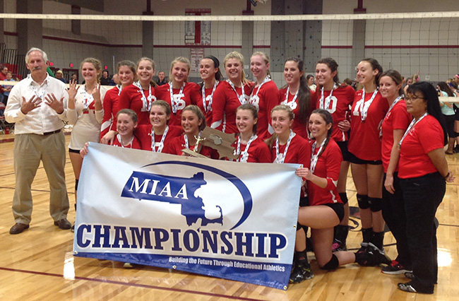 Barnstable Girls Volleyball State Champs 2015
