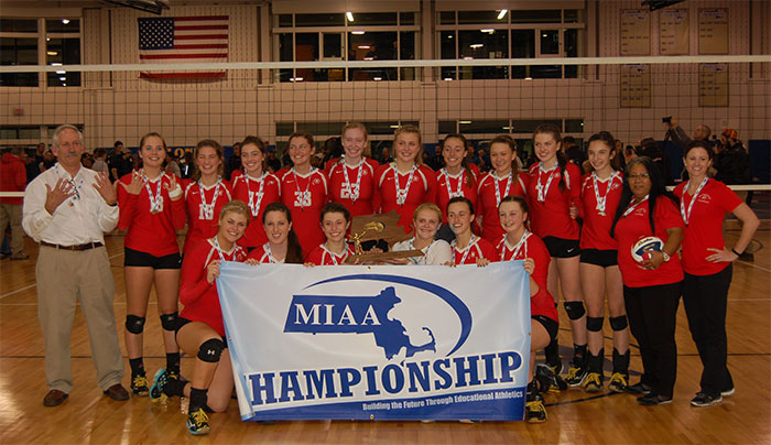 Division I State Champions Barnstable Girls Volleyball