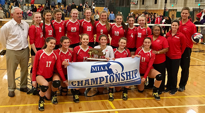 2017 Division I South Final Champions Barnstable Girls Volleyball Team