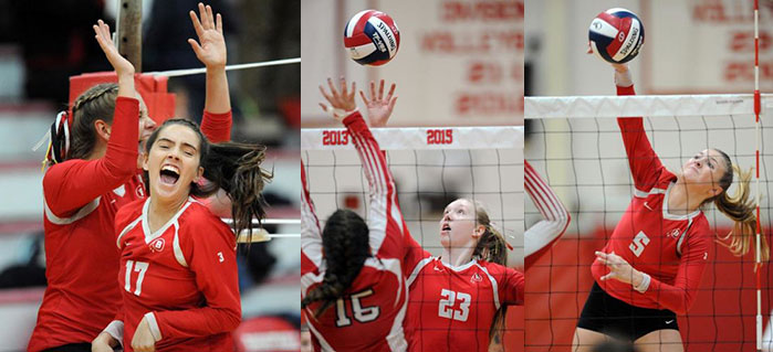 Pics of Girls Volleyball Game against North Attleboro