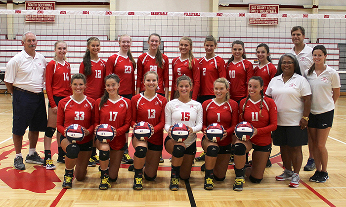 2017 Barnstable Girls Volleyball Team