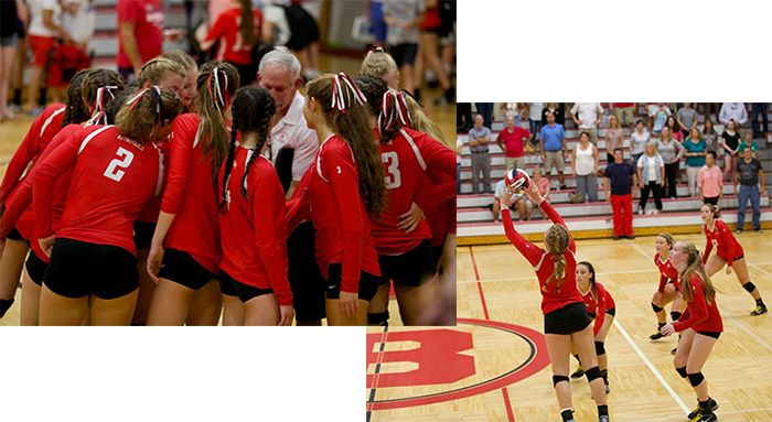 BHS Varsity Girls Volleyball Game Pics