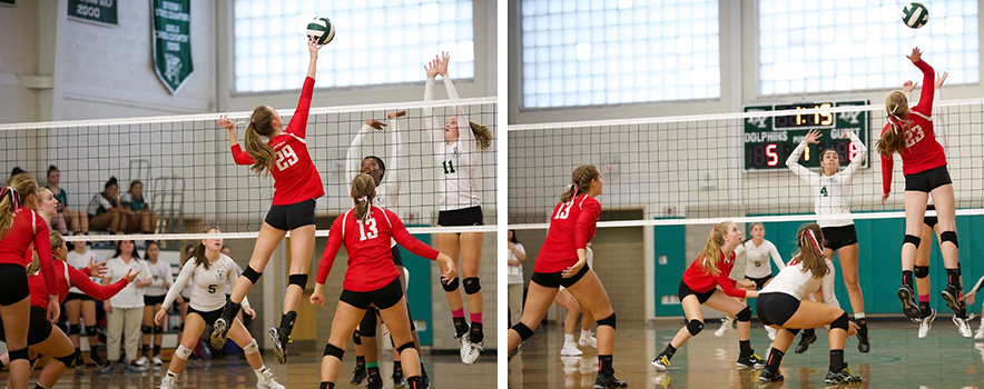 Game pictures of Dennis Yarmouth vs Barnstable Volleyball Match